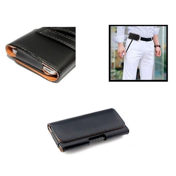 Jc carcasa negra talla l de 4.8 a 5'' universal cinturón para móviles