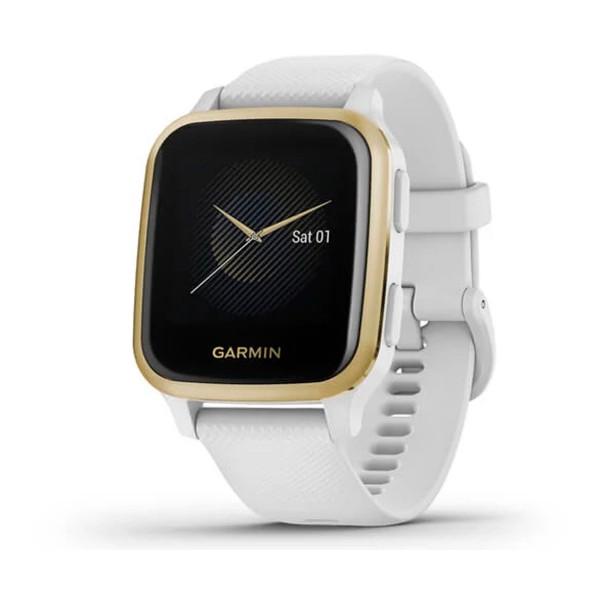 Garmin venu sq blanco/dorado smartwatch multideporte gps integrado frecuencia actividad sueño
