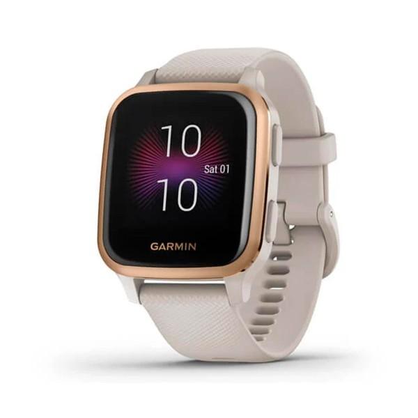 Garmin venu sq music ed. blanco/dorado smartwatch multideporte gps integrado frecuencia actividad sueño