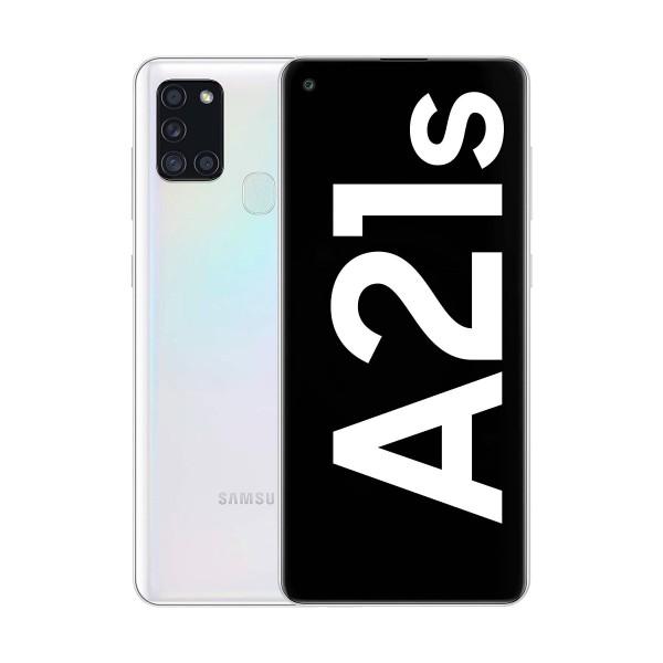 Samsung galaxy a21s blanco móvil 4g dual sim 6.5'' lcd hd+ octacore 32gb 3gb ram quadcam 48mp selfies 13mp
