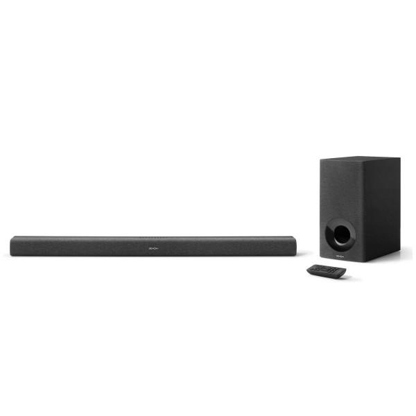 Denon dhts-416 black barra de sonido subwoofer inalámbrico, streaming, google chromecast, hdmi/arc, wi-fi,  decodificación dolby digital y dts.