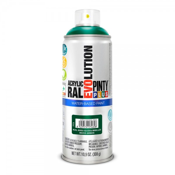 Pintura en spray pintyplus evolution water-based 520cc ral 6005 verde musgo